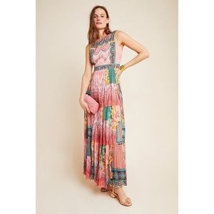 NWT Anthropologie Alessandra Maxi Dress Sz 10 Pink